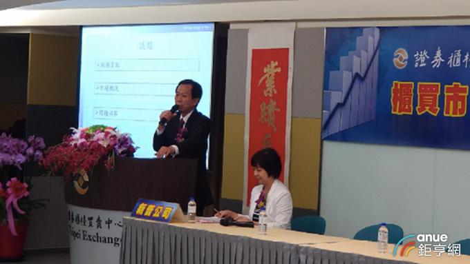 左為新普董事長宋福祥。(鉅亨網資料照)