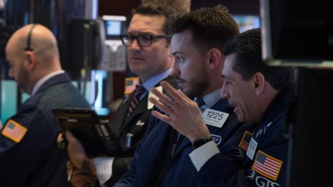 週二美股盤前,道瓊期指漲逾160點。(圖:AFP)