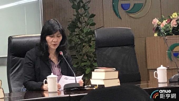 金管會證期局副局長蔡麗玲說,此次MSCI權重調整估計可為台股注入39億元活水。(鉅亨網記者郭幸宜攝)