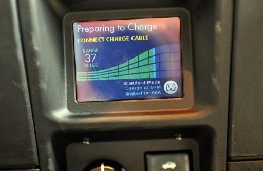 特斯拉車的充電螢幕