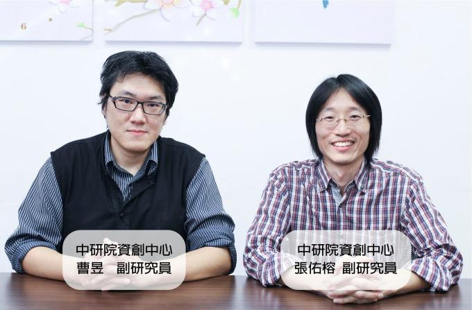 擅長「語音處理」的曹昱、專精「無線通訊」的張佑榕,兩者的研究融合一起,加上團隊成員協力,變成有助於人的「智慧聽」 APP。 攝影│張語辰