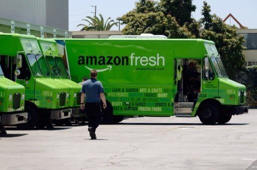 亞馬遜鮮食卡車(圖:AFP)
