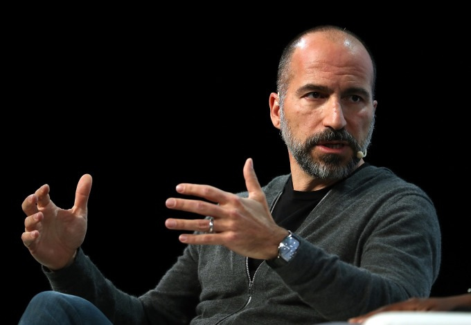 優步 (Uber) CEO Khosrowshahi。(圖: AFP)