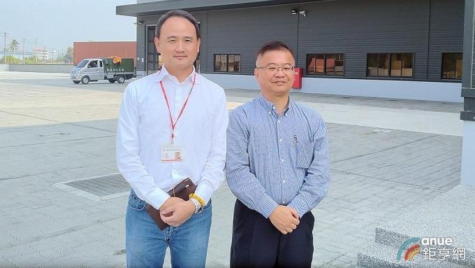 左為元山發言人暨熱傳事業部總經理劉賢文,右為家電事業部總經理楊文芳。(鉅亨網記者彭昱文攝)
