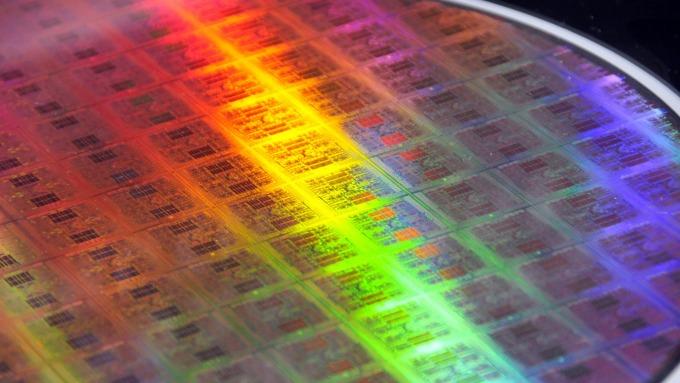 矽晶圓 (圖:AFP)
