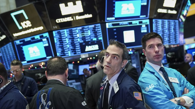 圖:AFP  美國指數期貨盤前走低