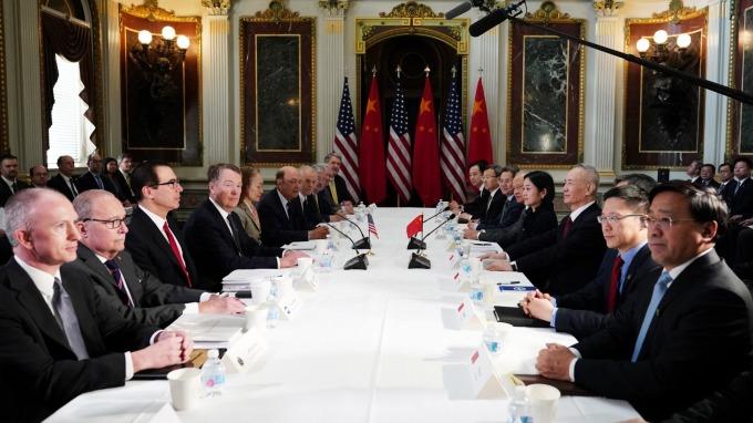 美中貿易談判代表本週在華府進行新一輪談判。(圖:AFP)
