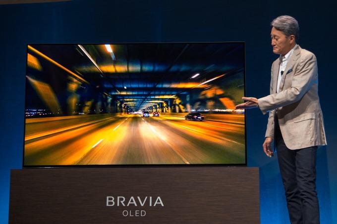 SONY 在 CES 2019 所展出的 OLED 電視 (圖:AFP)