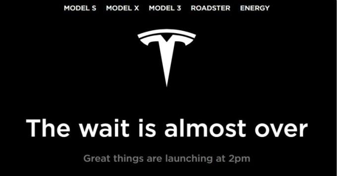 開放民眾訂購更便宜 Model 3 車型前,特斯拉網站宣布將有重大消息。(圖:AFP)