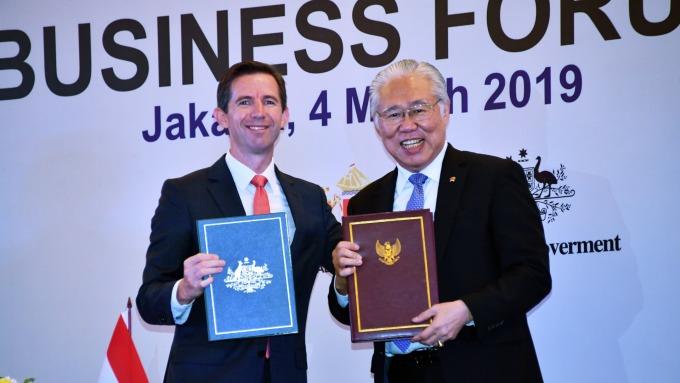 印尼與澳洲正式簽署自由貿易協定。(圖:AFP)