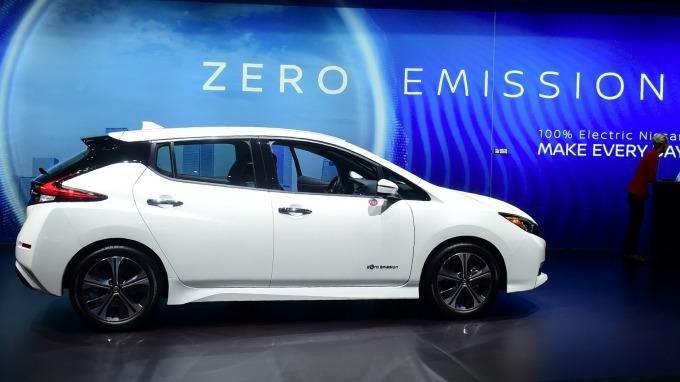 日產Leaf成為全球首款銷售超越40萬輛的電動車 (圖:AFP)