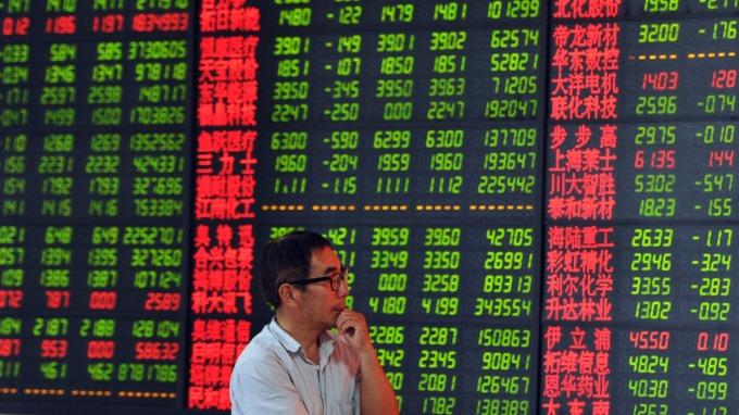 週五陸股重挫。(圖:AFP)