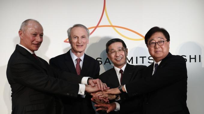 日產、雷諾、三菱 三家汽車公司的首腦們決定成立「Alliance Operating Board」 (圖:AFP)