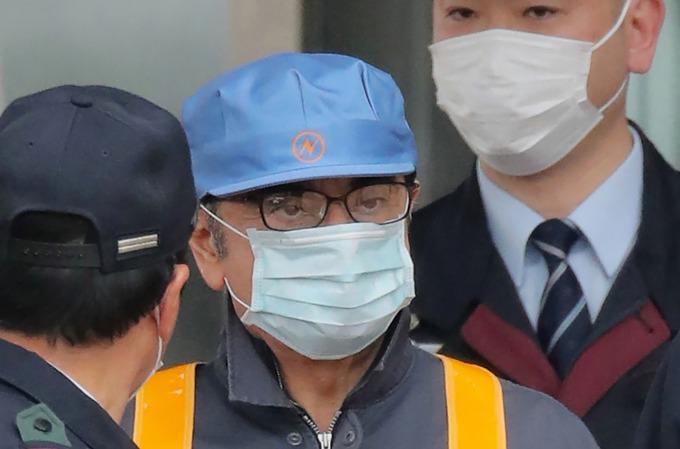 日前被日本檢方釋放的前日產董事長高恩 (圖:AFP)