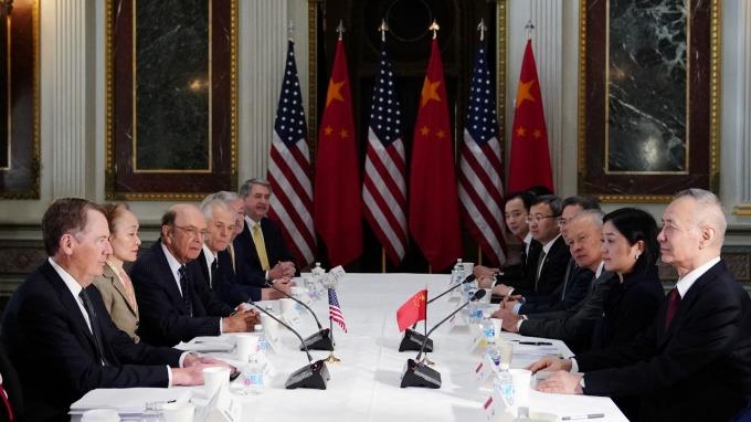 上月底華府中美經貿高級別磋商。(圖:AFP)