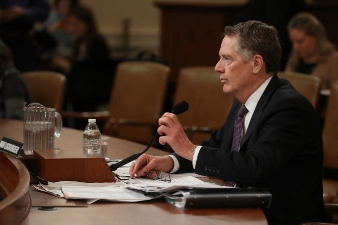 美國貿易代表萊特海澤 (Robert Lighthizer)。(圖:AFP)