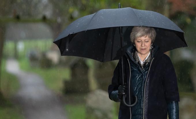英國脫歐倒數 17 天的關鍵時刻,梅伊再次面臨潰敗!(圖:AFP)