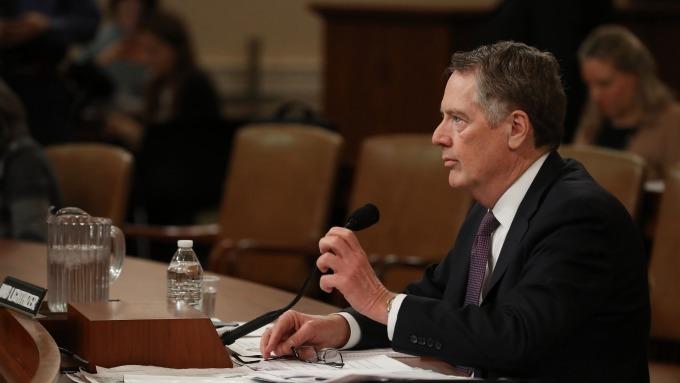 美國貿易代表萊特海澤 (Robert Lighthizer)  (圖:AFP)