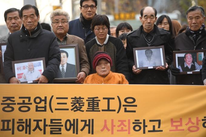 二戰時期徵用工問題,在韓國社會引起很大風波 (圖:AFP)