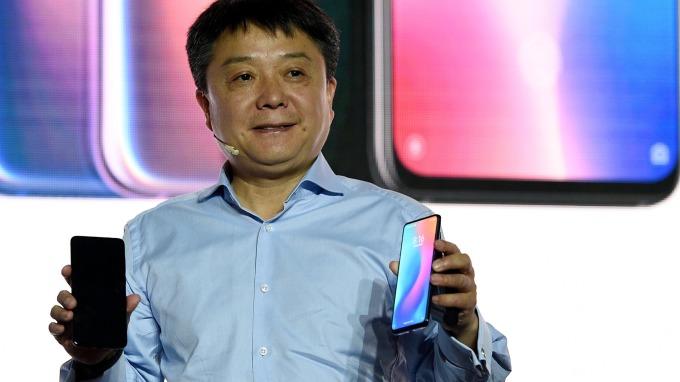 小米發表小米9手機。(圖:AFP)