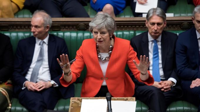 英國國會日前通過「延期脫歐」。(圖:AFP)