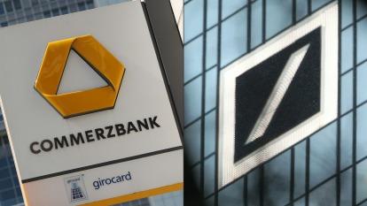 德銀與德國商銀公開宣布正在討論合併事宜。(圖:AFP)