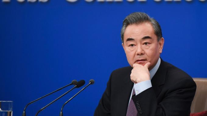 中國外交部長王毅。(圖:AFP)
