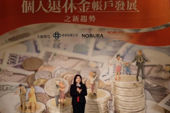 中華民國退休金協會理事長王儷玲。