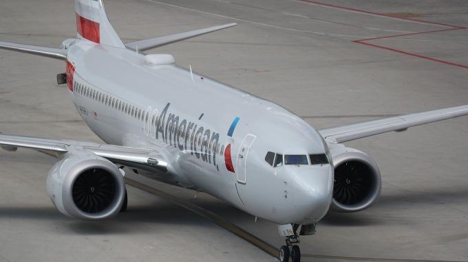 美國航空擁有最大波音737 MAX 8機群。 (圖:AFP)