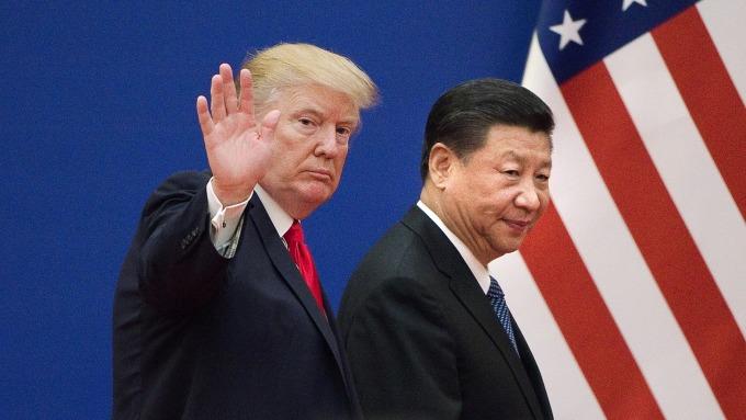 美國總統川普宣稱,貿易談判進展順利。(圖:AFP)