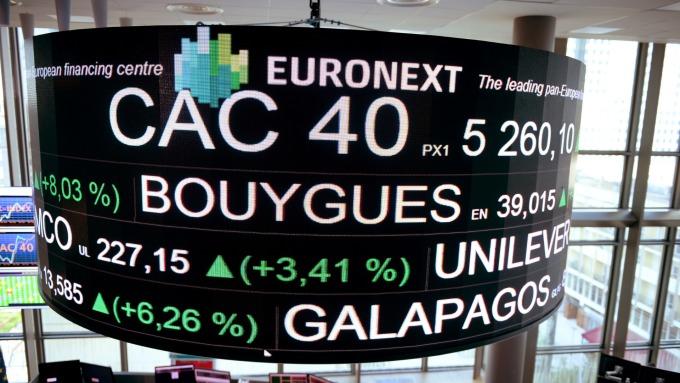 週四歐股盤前,指數期貨走揚。(圖:AFP)