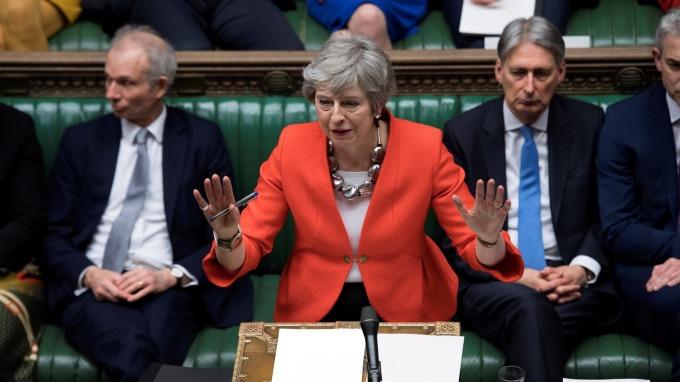 英國首相梅伊已致函歐盟,正式要求延後英國脫歐期限。(圖:AFP)