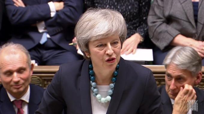 英國首相梅伊 (Theresa May) 。(圖:AFP)