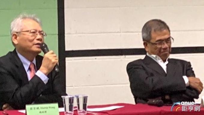 左起仁寶總經理翁宗斌、副董事長陳瑞聰。(鉅亨網記者陳研旻攝)