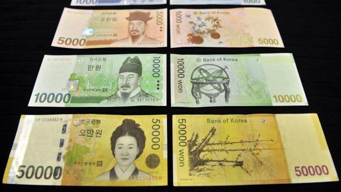經濟學家預估,韓元貶勢恐加劇。(圖:AFP)