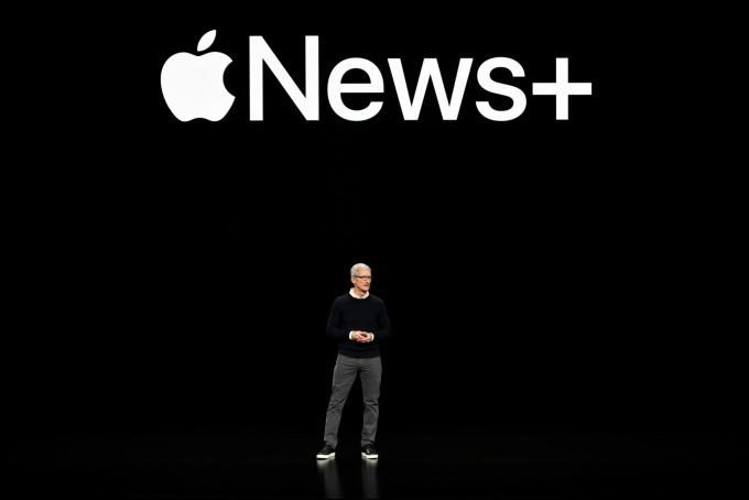 蘋果 Apple News + 訂閱服務。(圖:AFP)