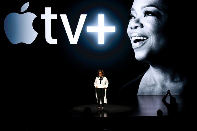 知名電視女主持人歐普拉助陣蘋果 Apple TV + 原創影音訂閱服務。(圖:AFP)