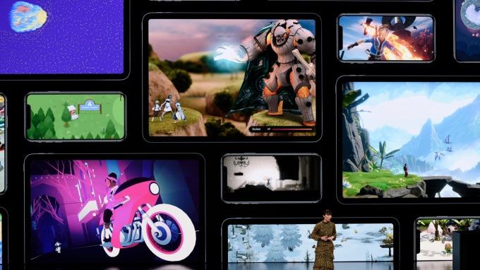蘋果推出 Apple Arcade 遊戲訂閱服務。(圖:AFP)