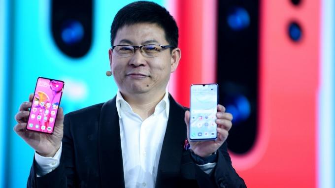 華為消費者業務 CEO 余承東。(圖:AFP)