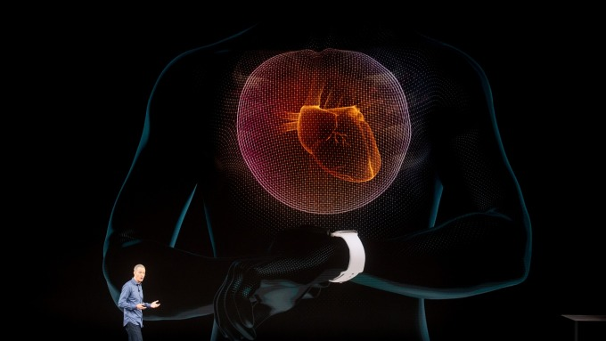 Apple Watch已經能夠追蹤到心電圖和心律 (圖:AFP)