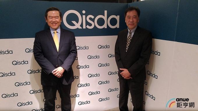 圖左為佳世達董事長陳其宏,右為資深副總