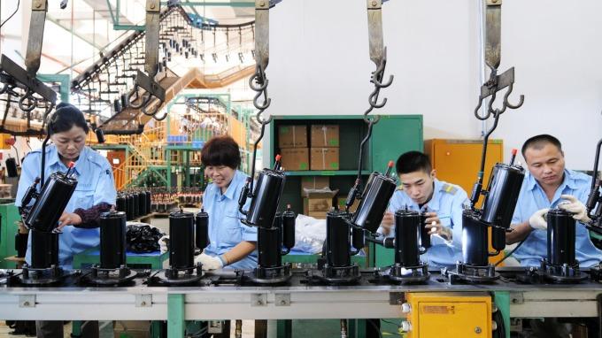 中國3月製造業PMI回溫。(圖:AFP)