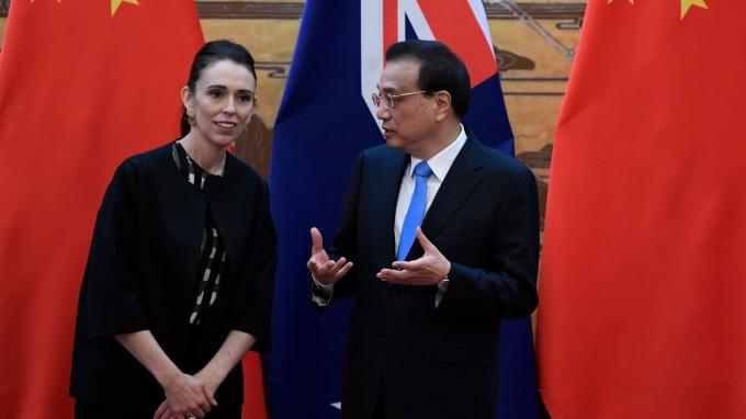 紐西蘭總理Jacinda Ardern訪問中國。(圖:AFP)