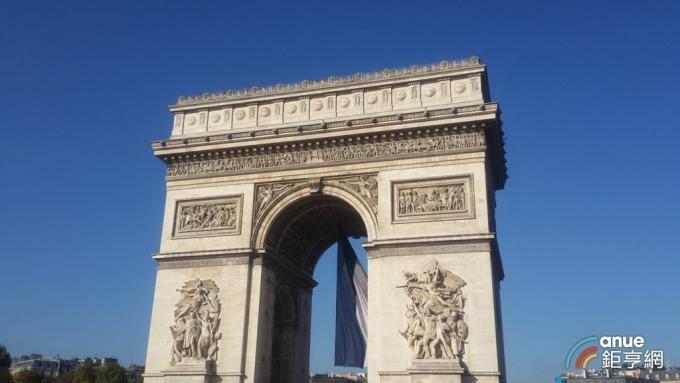巴黎凱旋門。(鉅亨網記者王莞甯攝)