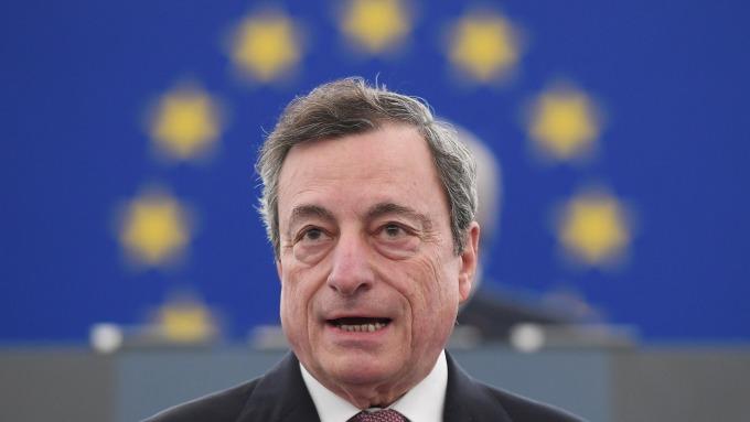 歐洲央行總裁德拉吉 (Mario Draghi) 。(圖:AFP)