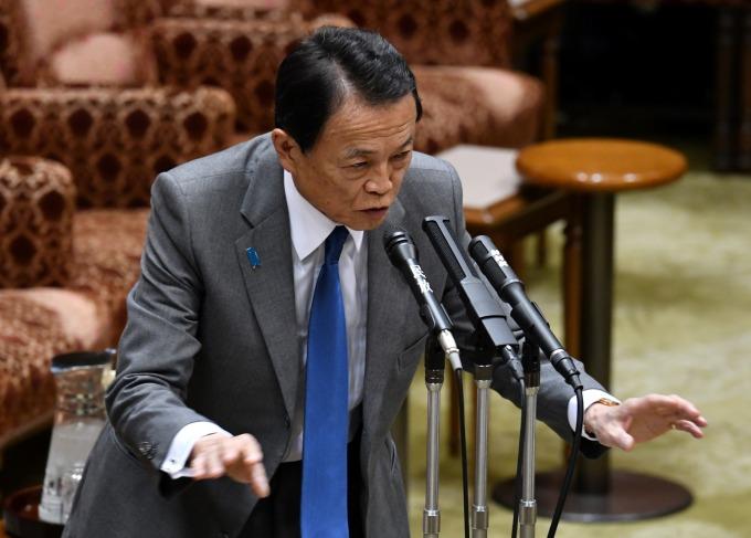 日本財務大臣麻生太郎 (圖:AFP)