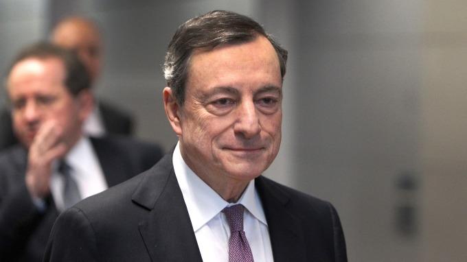 ECB總裁德拉吉。(圖:AFP)