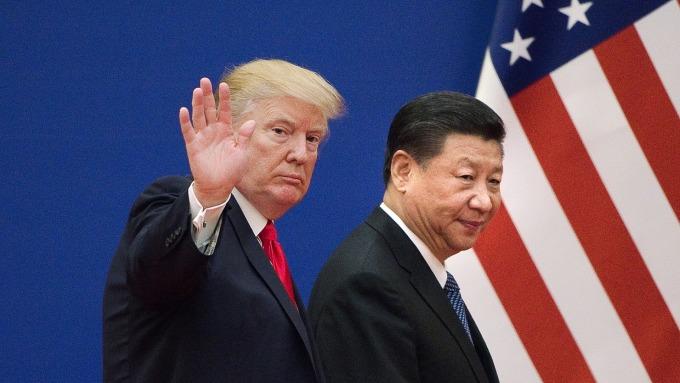 川普挑起美中貿易戰。(圖:AFP)