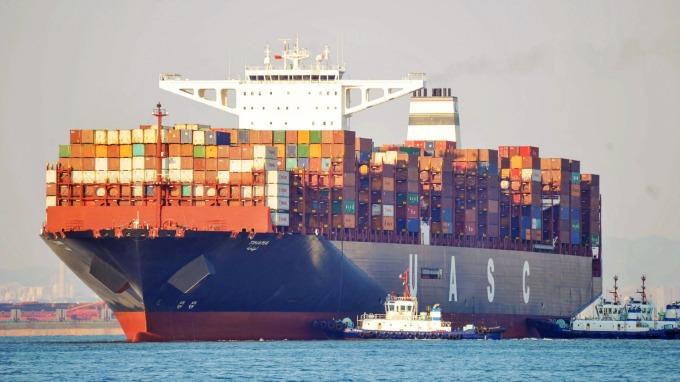 2019 年航運貿易下滑態勢持續。(圖:AFP)
