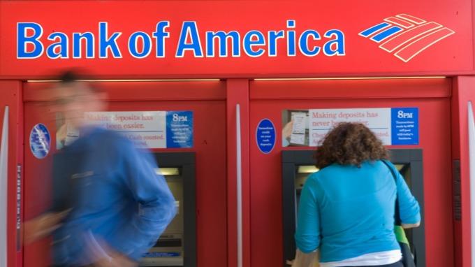 美國銀行Q1營收較去年持平。(圖:AFP)